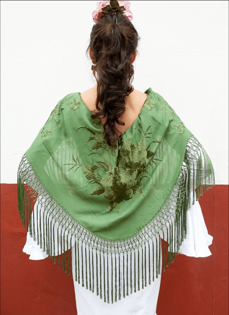 mantón verde campo