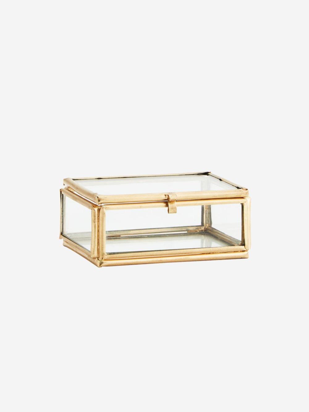 Joyero Espejo Basic II con acabados dorados