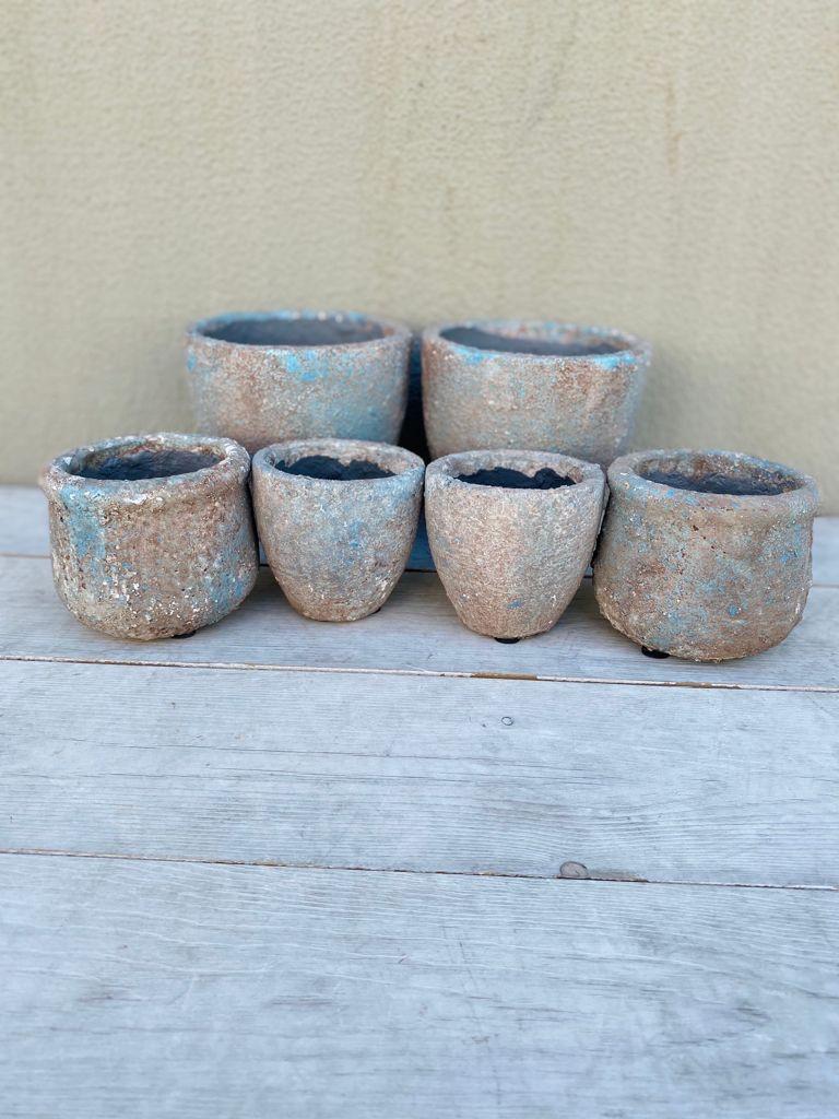 Macetero Petra Grey en cerámica