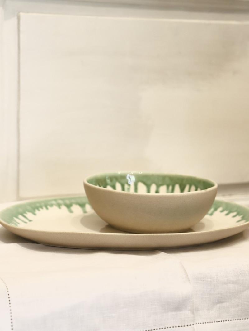 Conjunto Mirze White&Green, menaje de cocina