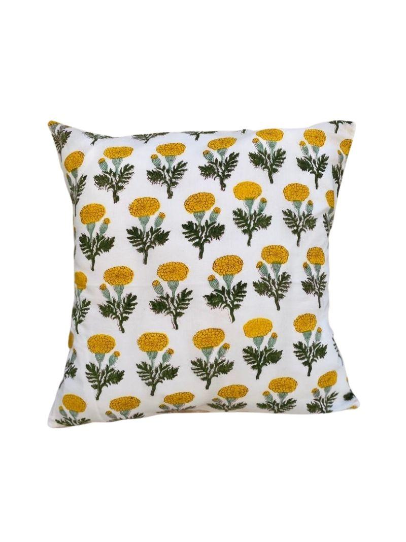 Funda de Cojín masaya 4 con flores amarillas